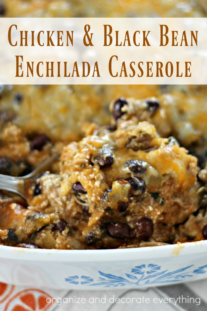 Layered Chicken And Black Bean Enchilada Casserole Recipe ...
