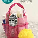 Dorm Room Shower Caddy and Bathroom Essentials