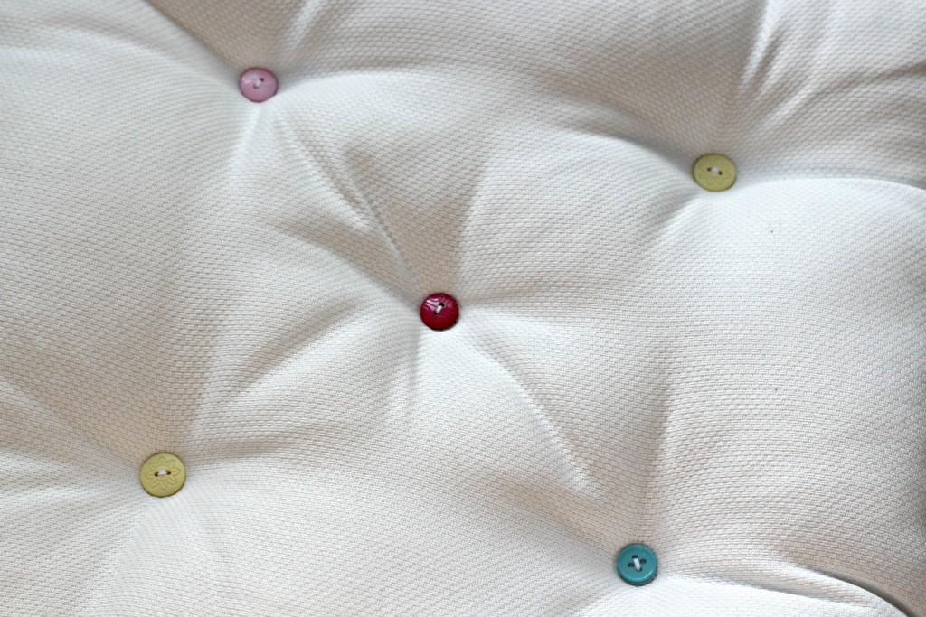 Dorm Room buttons on cushion