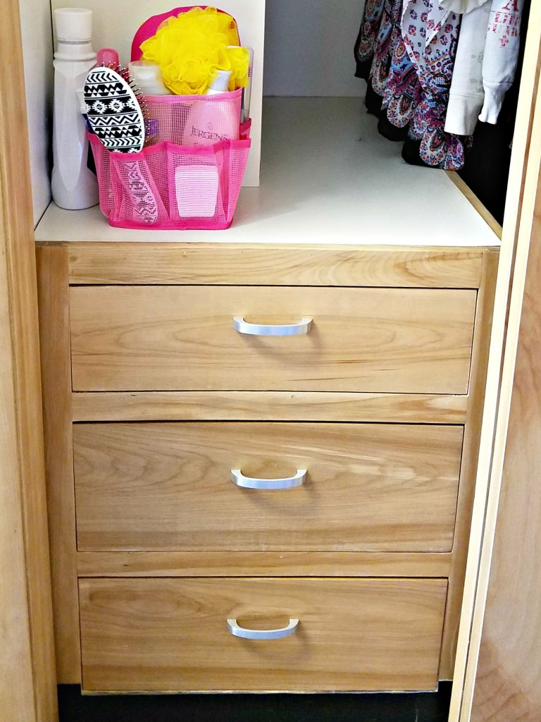 Dorm Room closet drawers