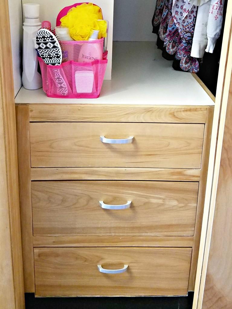 Dorm Room closet drawers