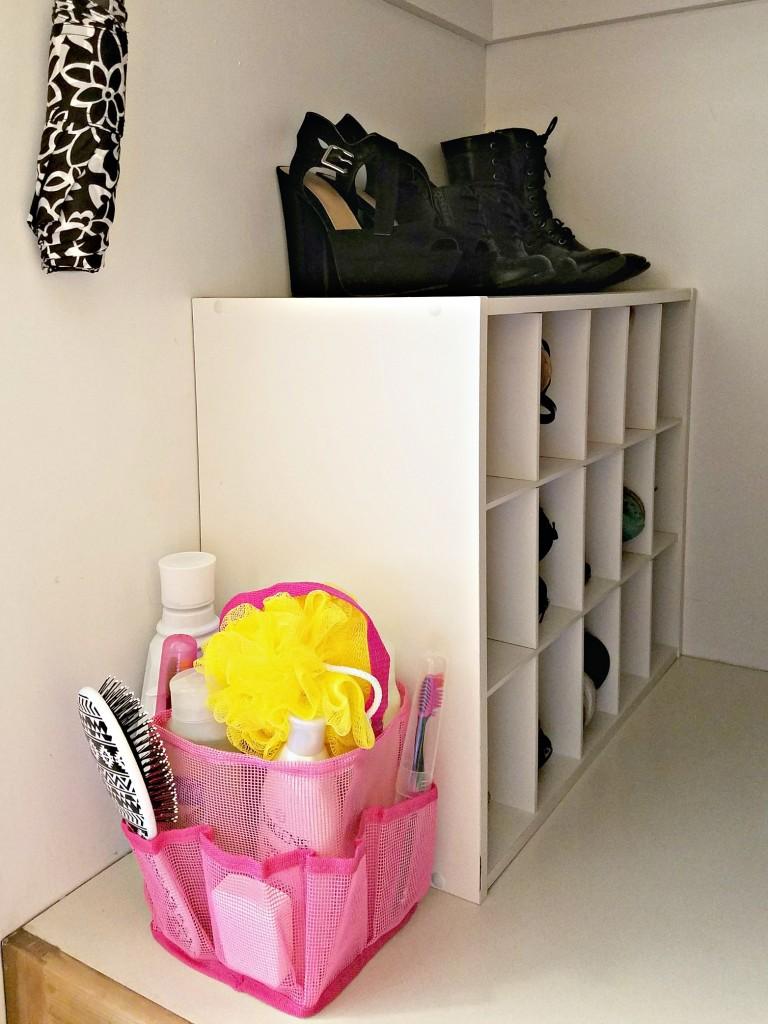 Dorm Room closet shoe cabinet