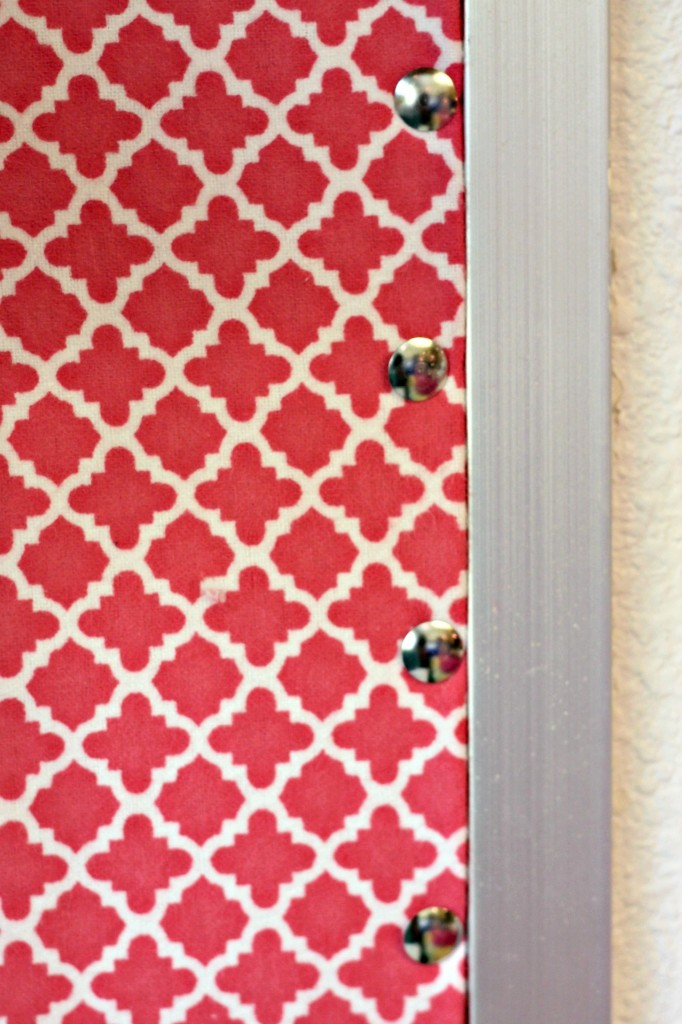Dorm Room fabric covered cork board