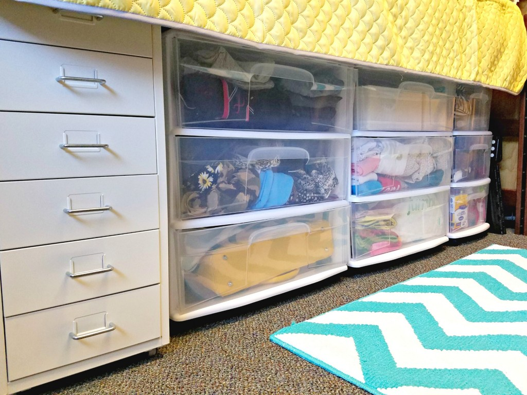 Dorm Room underbed storage