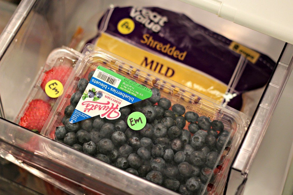 Food Stickers in fridge