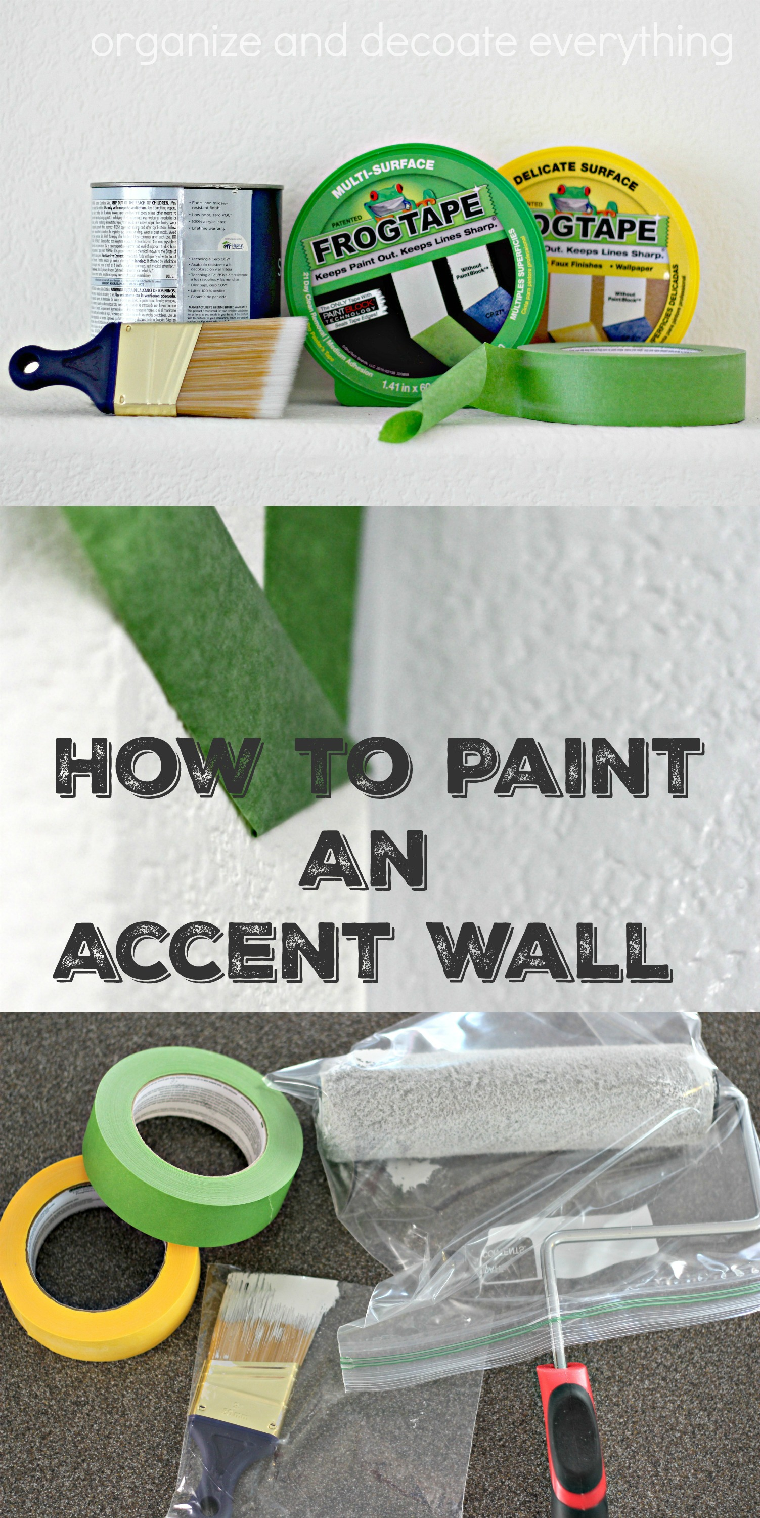 use tape for a perfect paint line