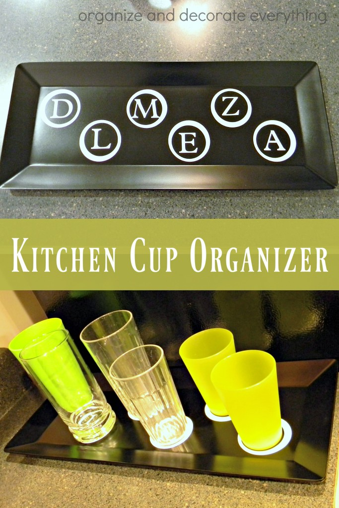 Kitchen Cup Organizer Tray helps keep the kitchen neat and tidy