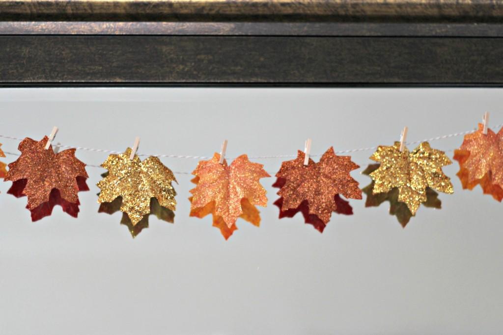 fall-glitter-leaves-on-mirror