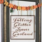 Falling Glitter Leaves Garland