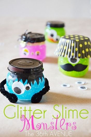 halloween-kids-crafts-glitter-slime-monsters