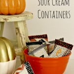 Halloween Sour Cream Containers