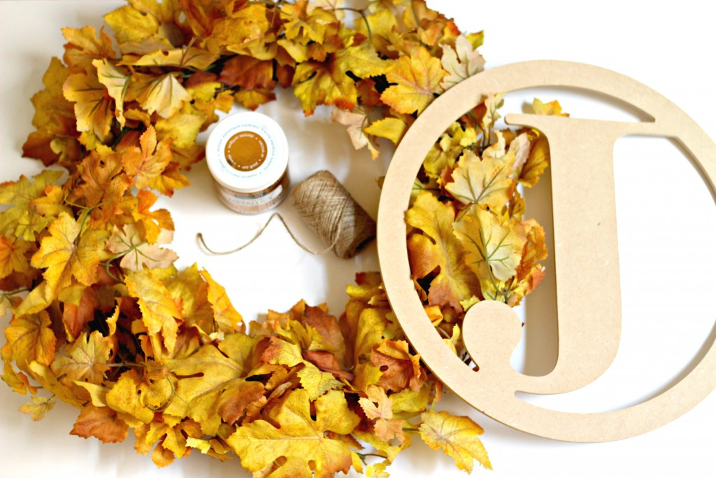 Monogram Fall Wreath supplies