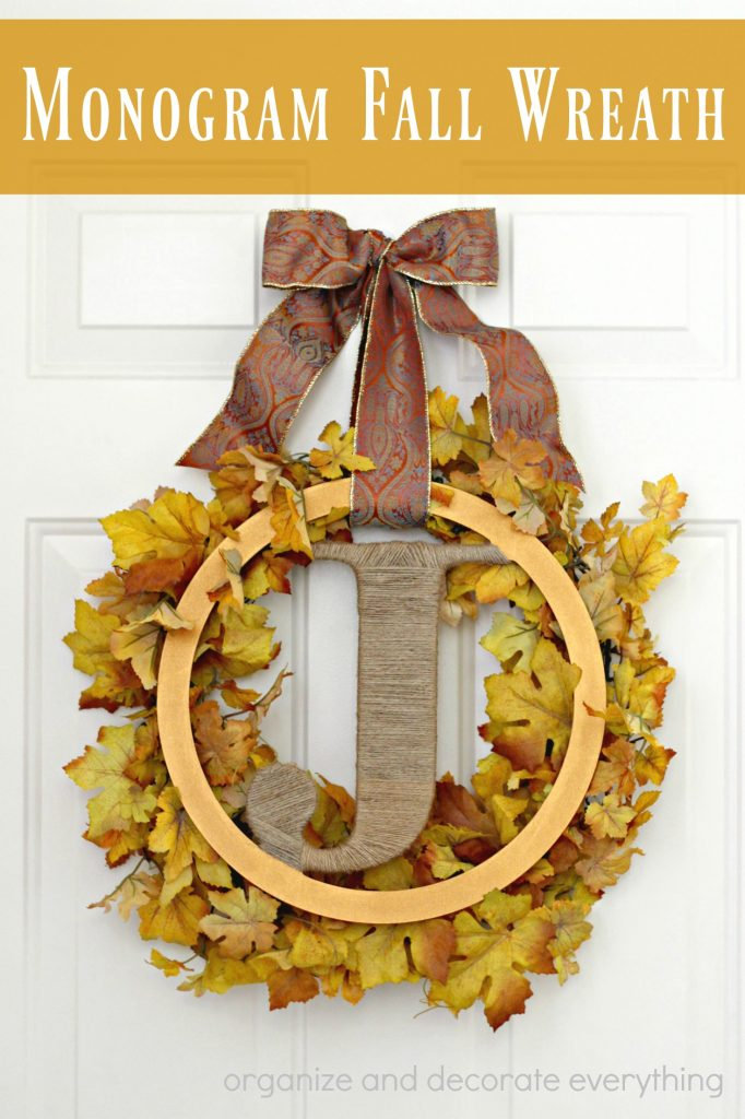 Monogram Fall Wreath pinterest