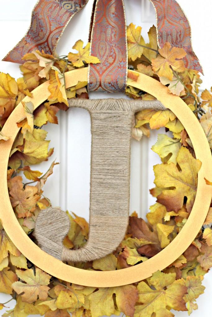 Monogram wreath close up