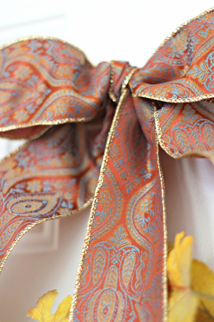 Monogram wreath ribbon bow