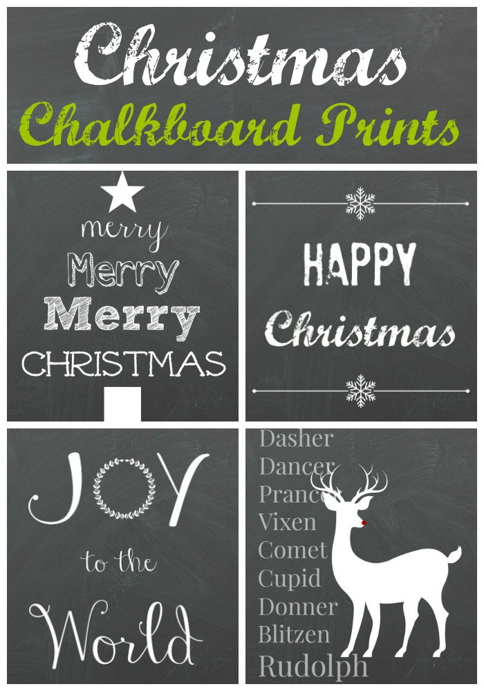 christmas chalkboard printables organize and decorate everything