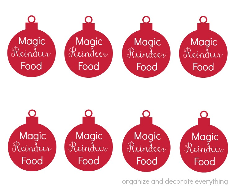 photo about Printable Reindeer Food Tags named Magic Reindeer Foods (and printable tags) - Set up and