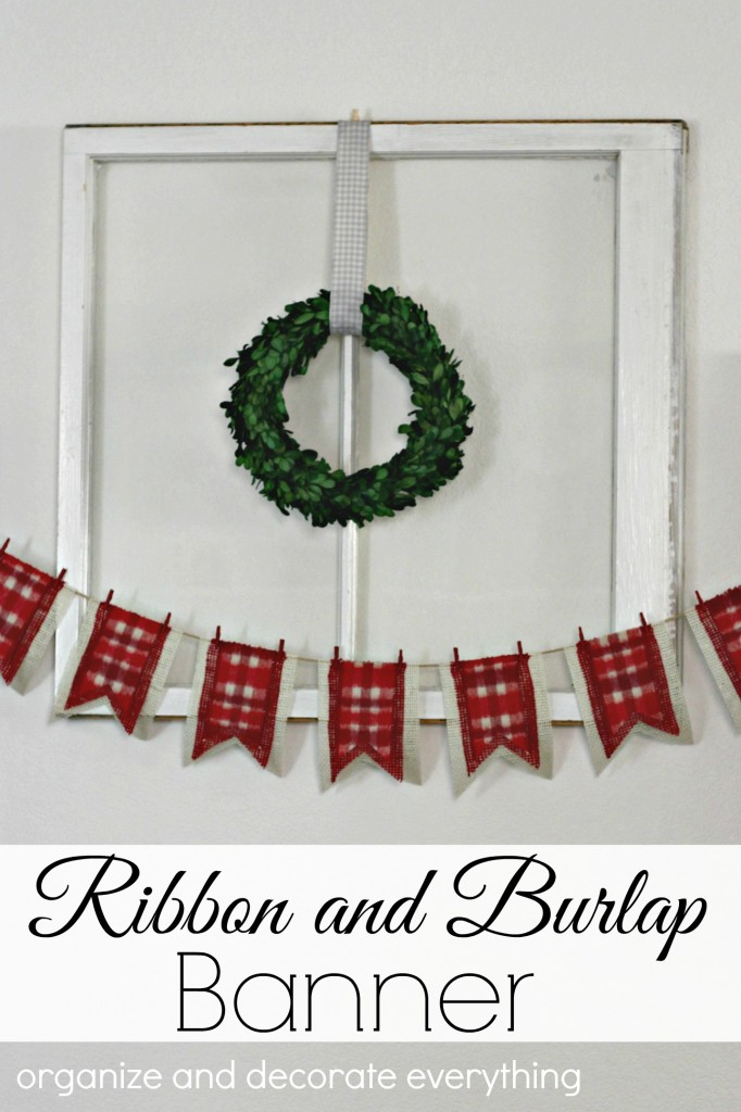 ribbon-and-burlap-banner-for-a-woodland-christmas
