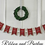 Ribbon and Burlap Christmas Banner