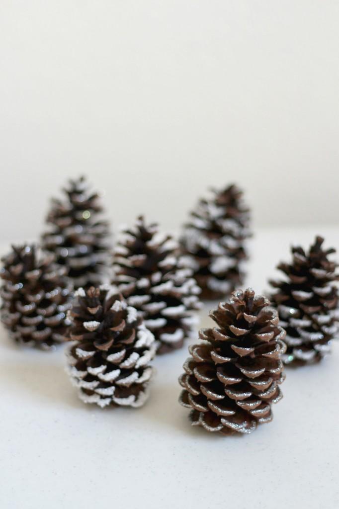 snowy-pine-cones-craft