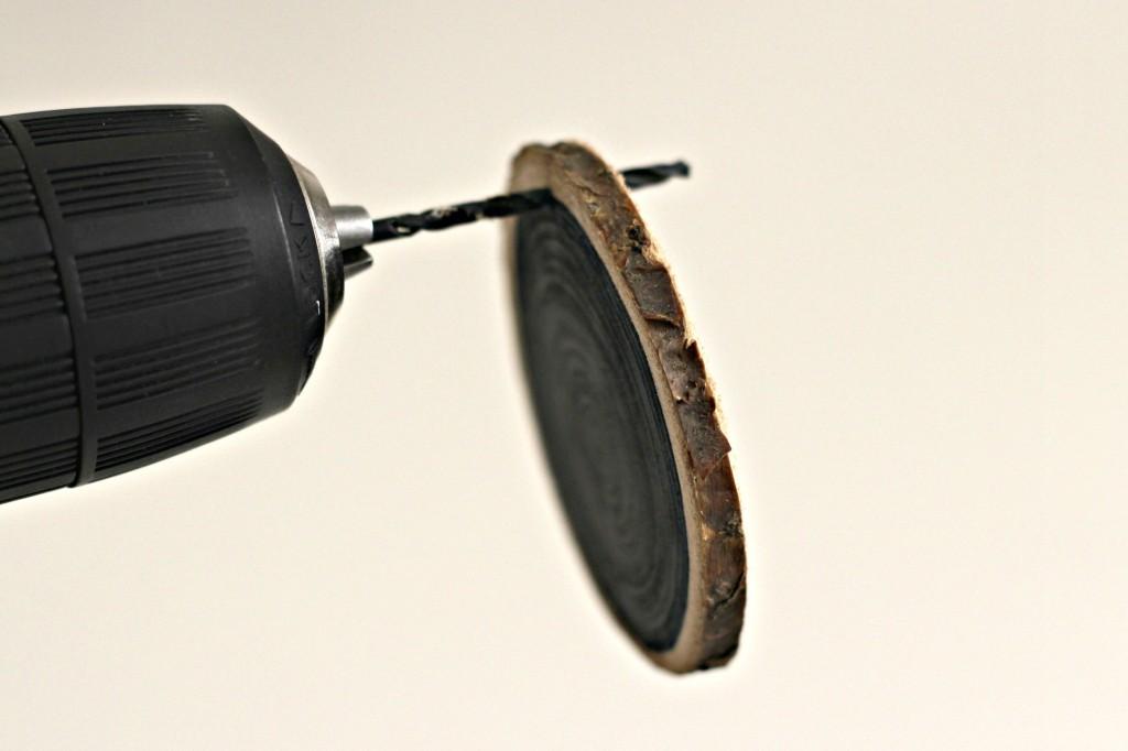 wood-slice-ornaments-drill-holes