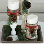 Wood Wrapped Candles