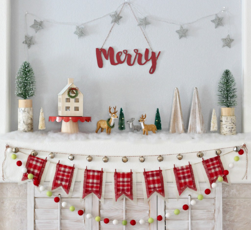 merry-christmas-woodland-mantel