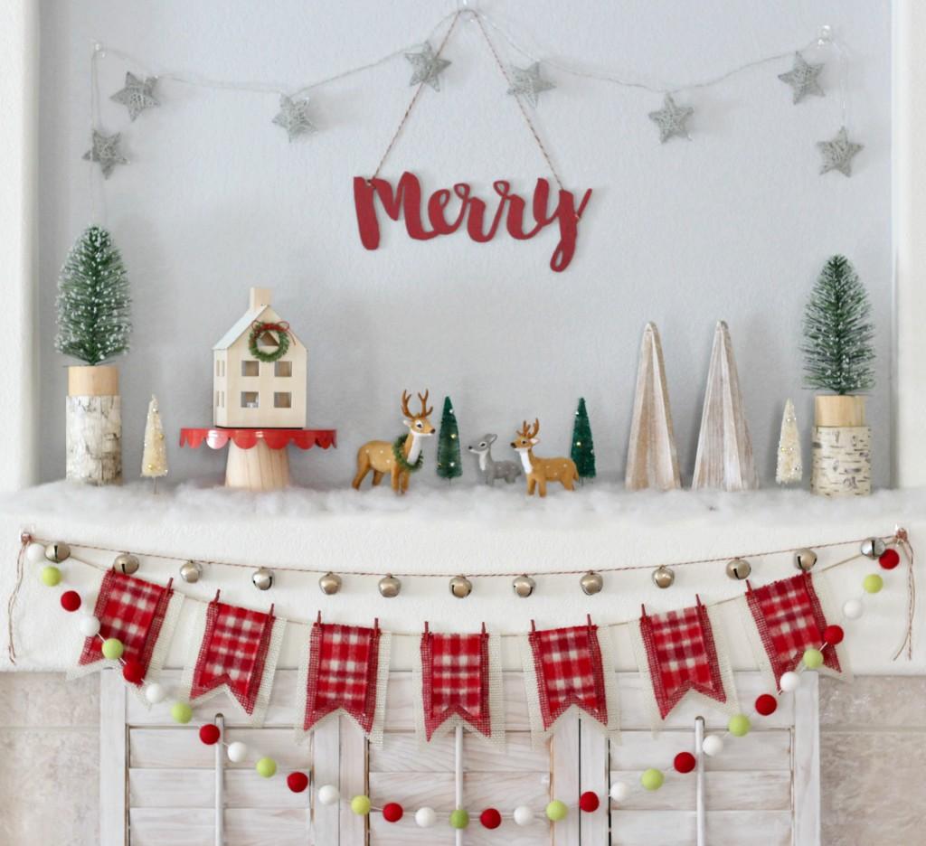 merry-christmas-woodland-mantel