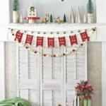 Merry Woodland Christmas Mantel