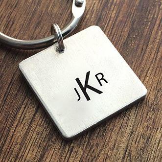 monogram-keychain