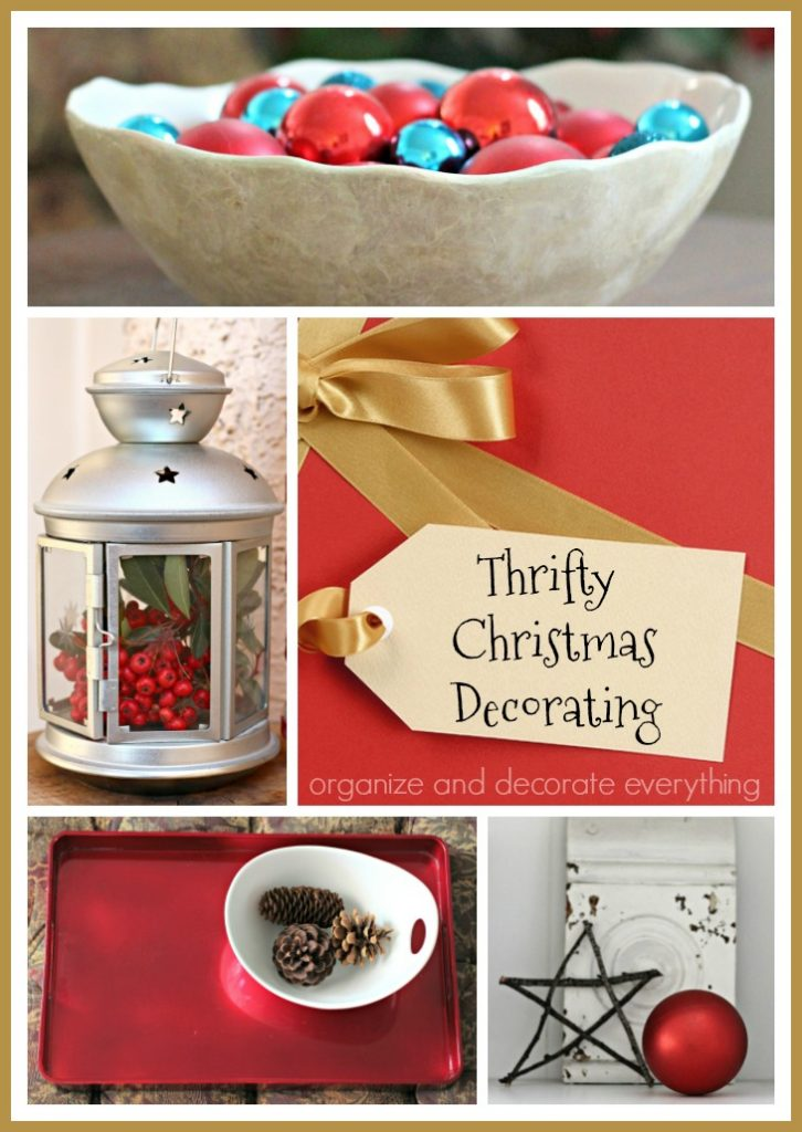 Thrifty Christmas Decorating using things in your home