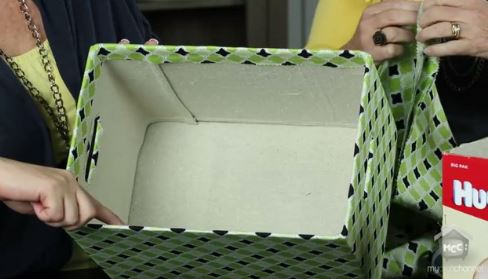 Fabric Covered Boxes for storage