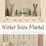Winter Scene Mantel