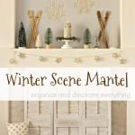 Winter Scene Mantel