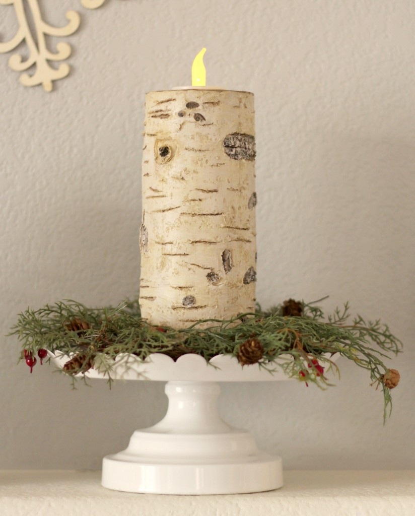 winter-trees-mantel-candle