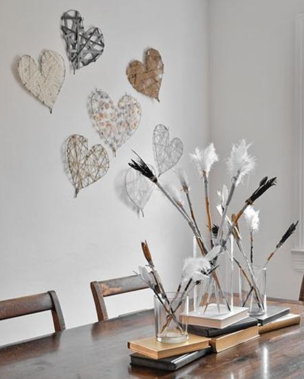 creative hanging hearts