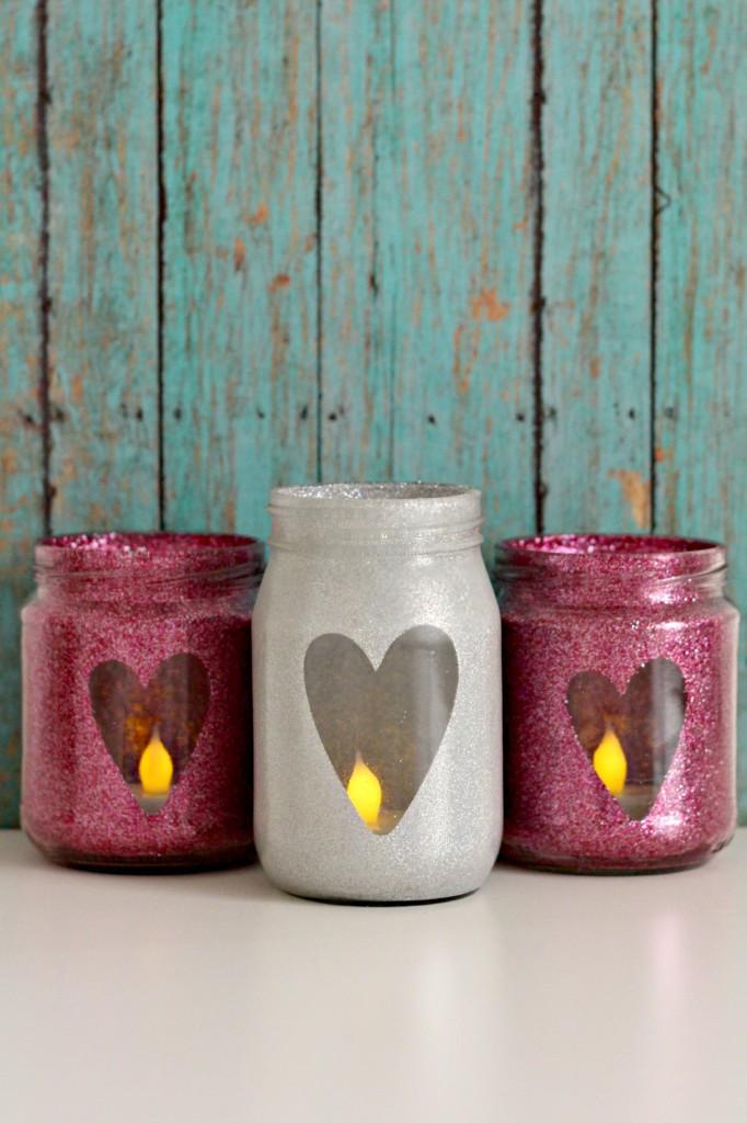 creative heart jars