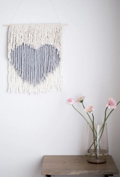creative heart wall hanging