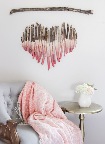 creative ombre wood heart