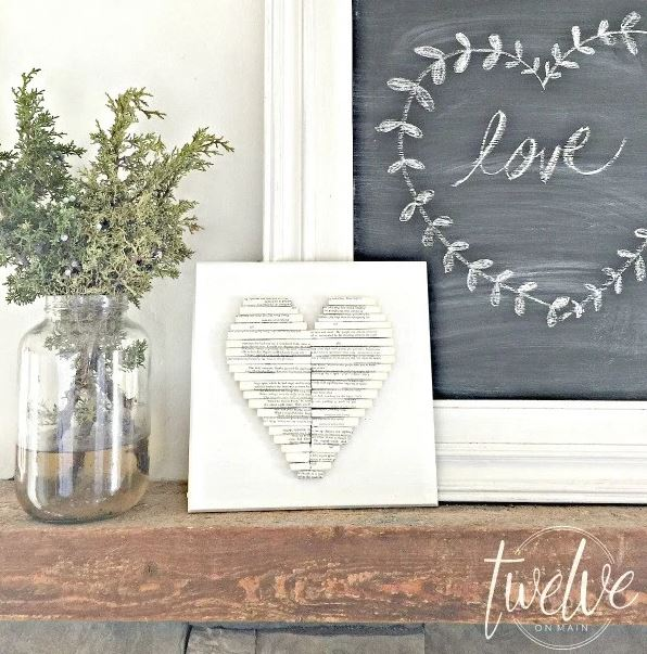 creative rolled paper heart