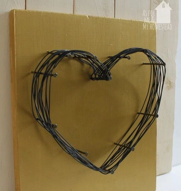 creative wire heart