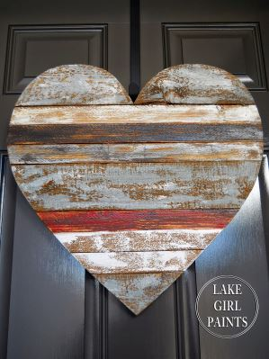 creative wood heart