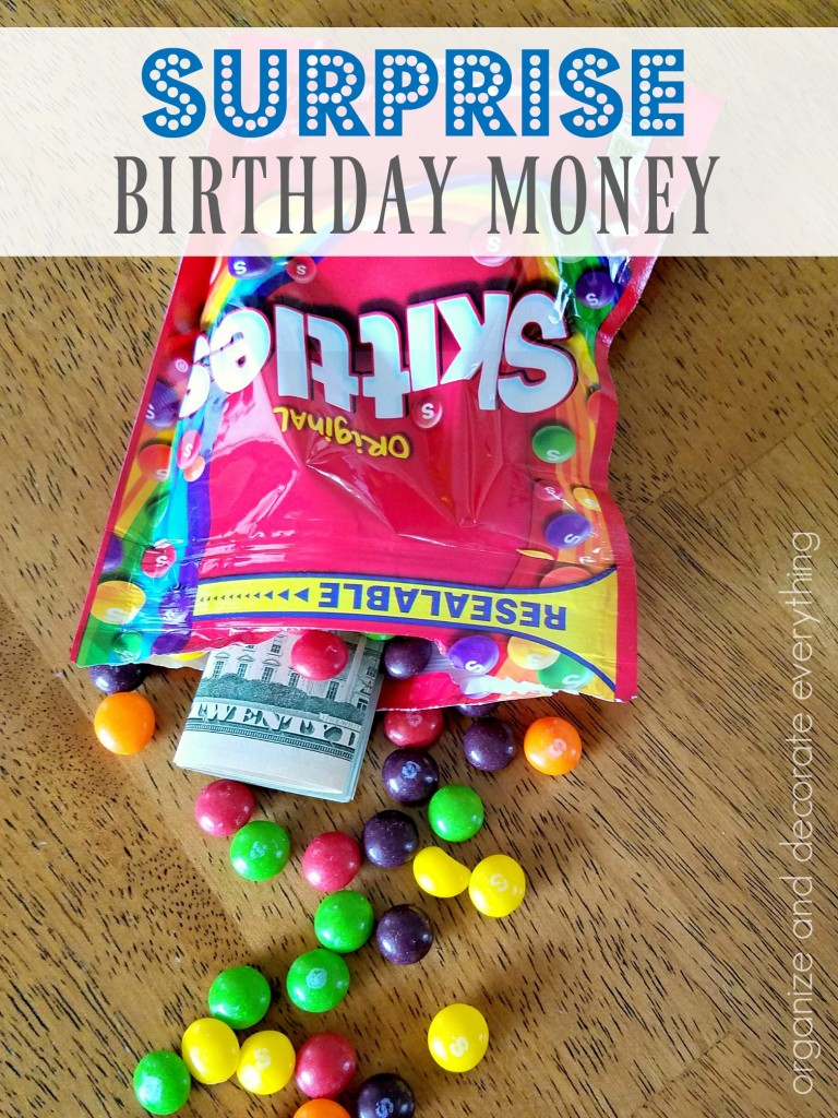 Hidden Money for a fun Birthday Surprise