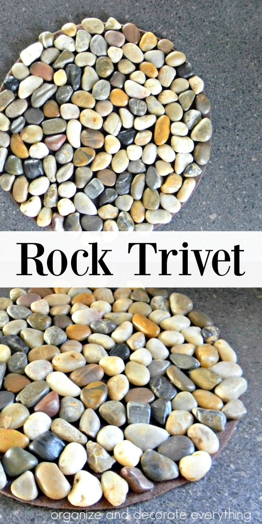 Natural Rock Trivet by Organize and Decorate Everything