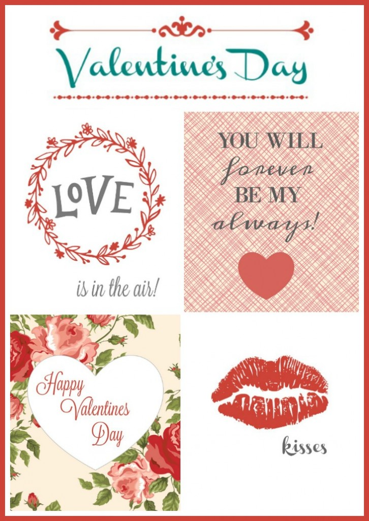 Red and Pink Printables for Valentine's Day