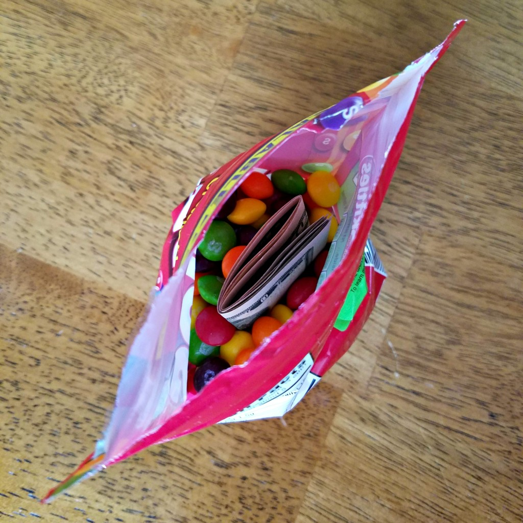 Surprise Birthday Money in Candy bag