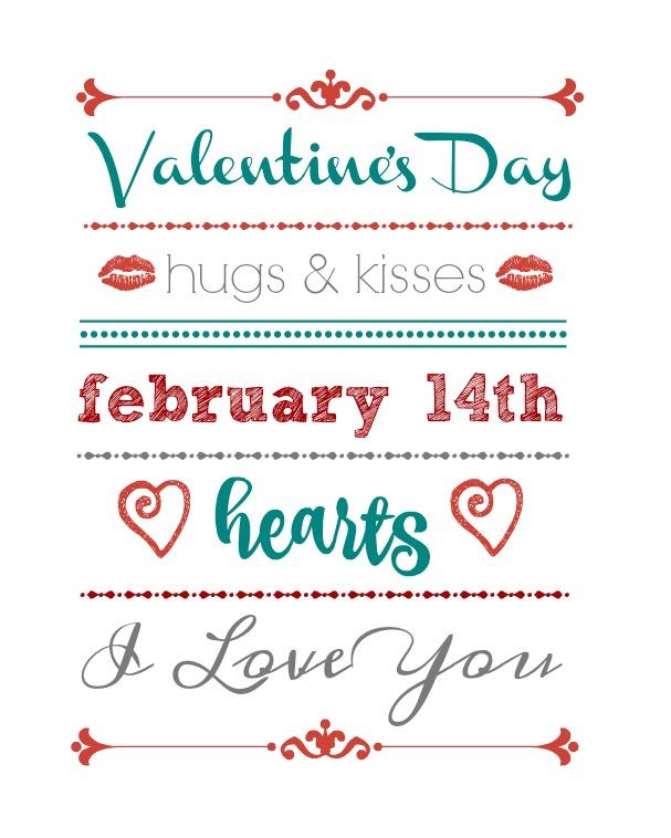 Valentine's Day favorites printable