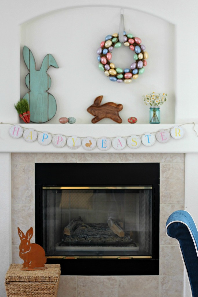 Easter Bunny Mantel