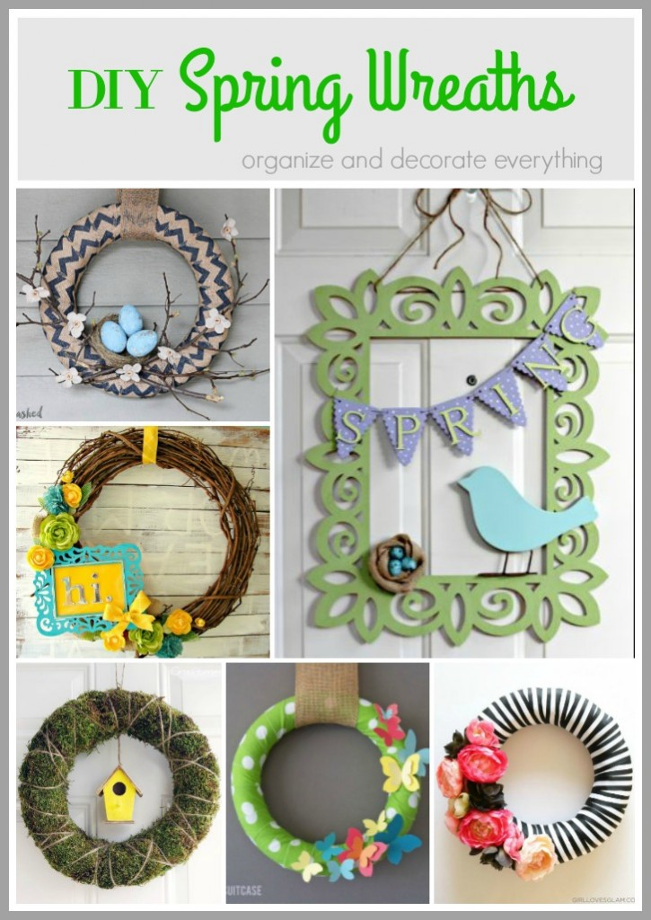 Easy and Beautiful DIY Spring Wreaths