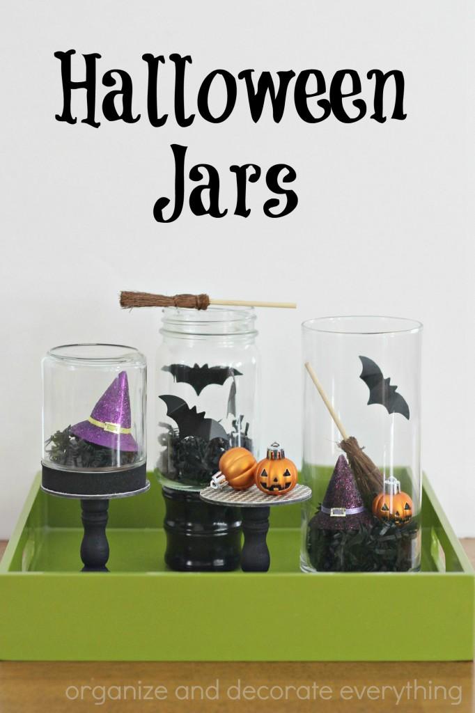 Halloween Jars centerpiece